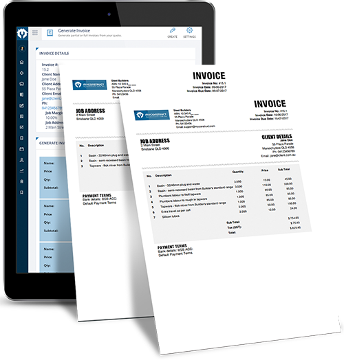 Free Simple Invoice Template Pdf Online Construction Invoicing Software For Builders And Tradies  What Is Cash Receipts In Accounting Pdf with Format For Invoice Pdf Construction Invoicing Software Invoices Without Gst Word